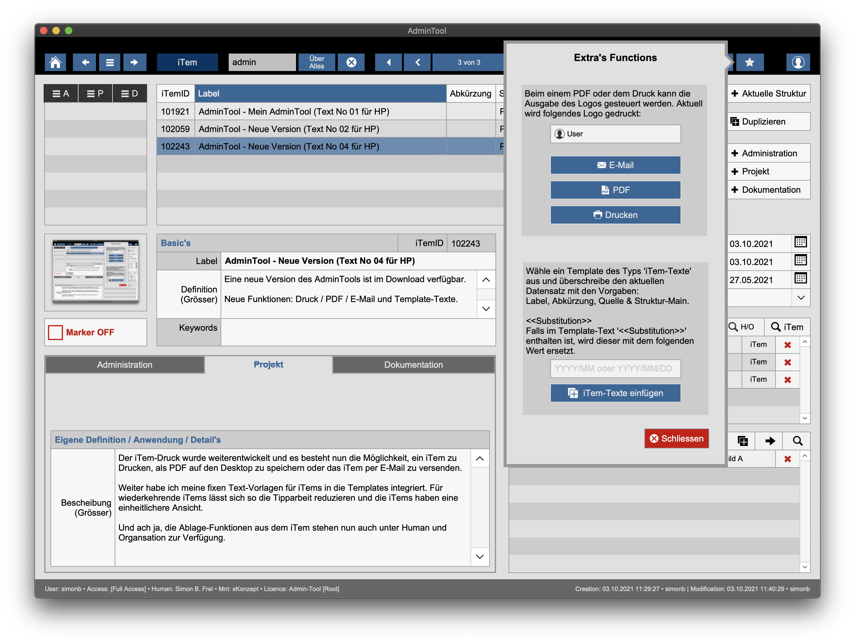Read more about the article Admin-Tool – Version 1.80.001